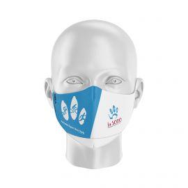 Masque Barrière LA 5000 - Forme Ergo - 2 couches - Réutilisable et lavable
