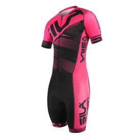 SKATING SUIT SILA FUSION PINK - Short sleeves