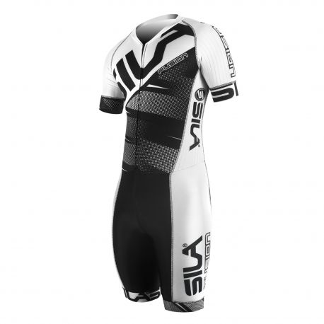SKATING SUIT SILA FUSION WHITE - Short sleeves