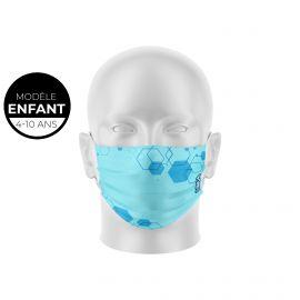 Masque de Protection SILA HEXAGON Enfants - Forme Plate - 2 couches - Réutilisable et lavable