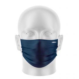 Masque de Protection SILA PRIME BLEU MARINE - Forme Plate - 3 couches - Réutilisable et lavable