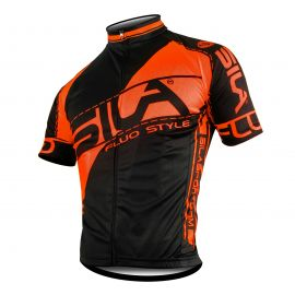 MAILLOT FLUO STYLE 3 ORANGE Manches courtes
