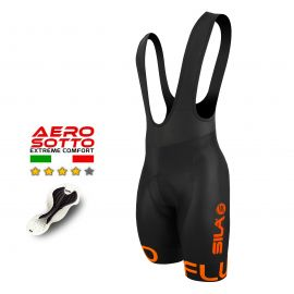 CUISSARD CYCLISME SILA FLUO STYLE 3 ORANGE