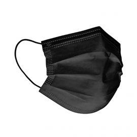 BOITE Masques de Protection CHIRURGICAL NOIR (X50) - 3 couches - jetable