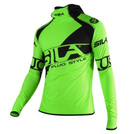 MAILLOT RUNNING HIVER - SILA FLUO STYLE 3 - VERT