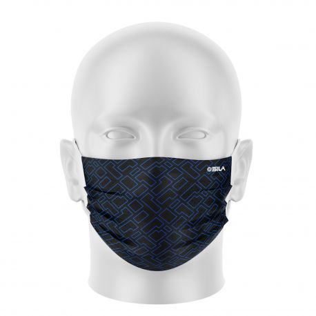 Masque tissu SILA CREATIVITY BLEU - Forme Plate - Filtration 1 - UNS1