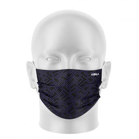 Masque tissu SILA CREATIVITY VIOLET - Forme Plate - Filtration 1 - UNS1