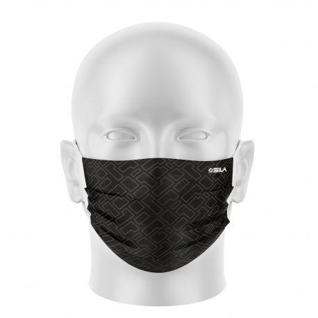Masque tissu SILA CREATIVITY MARRON - Forme Plate - Filtration 1 - UNS1