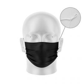 Masque tissu SILA PRIME NOIR Réglable - Forme Plate - Filtration 3