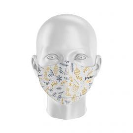 Masque tissu SILA NOEL DORÉ- Forme Ergo - Filtration 2 - UNS2