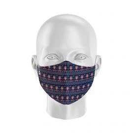 Masque tissu SILA NOEL TRICOT- Forme Ergo - Filtration 2 - UNS2