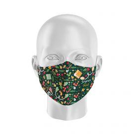 Masque tissu SILA NOEL SAPIN- Forme Ergo - Filtration 2 - UNS2