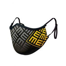 Masque tissu SILA TRIFORCE JAUNE AJUSTABLE - Forme Ergo - Filtration 2 - UNS2