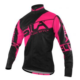 JACKET WINDSTOPPER Detachable sleeves SILA FLUO STYLE 3 PINK