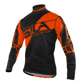 JACKET WINDSTOPPER Detachable sleeves SILA FLUO STYLE 3 ORANGE