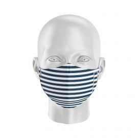 Masque tissu SILA MARINIERE BLEU - Forme Ergo - Filtration 2 - UNS2