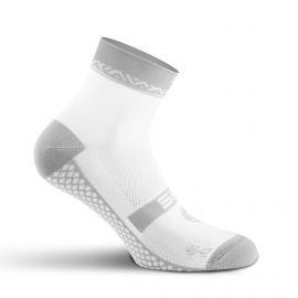 SHORT SOCKS SILA GEOMETRIC - WHITE / GREY