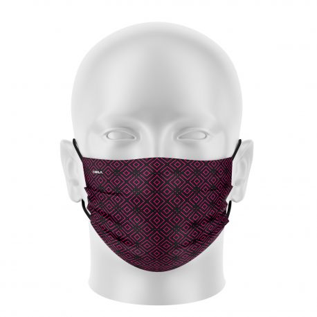 Women mask SILA ELEGANT BLACK / PINK - Flat shape - Filtration 1 - UNS1