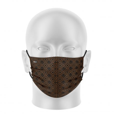 Women mask SILA ELEGANT BLACK / GOLD - Flat shape - Filtration 1 - UNS1