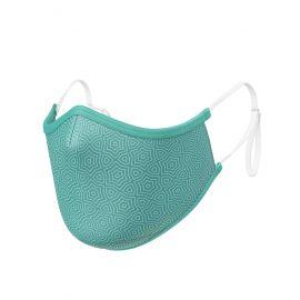 Masque tissu SILA AZALEA Emeraude AJUSTABLE - Forme Ergo - Filtration 2 - UNS2