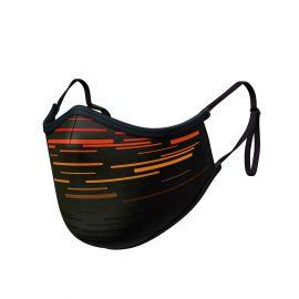 Masque tissu SILA LASER ROUGE AJUSTABLE - Forme Ergo - Filtration 2 - UNS2