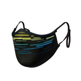 Masque tissu SILA LASER JAUNE AJUSTABLE - Forme Ergo - Filtration 2 - UNS2