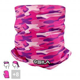 BANDANA NECK multifunction SILA CAMO Pink