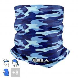 BANDANA NECK multifunction SILA CAMO Blue