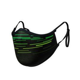 Masque tissu SILA LASER VERT AJUSTABLE - Forme Ergo - Filtration 2 - UNS2