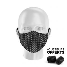 Masque tissu SILA RUBIS GRIS - Forme Ergo - Filtration 1 - UNS1