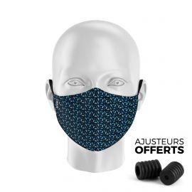 Masque tissu SILA RUBIS BLEU - Forme Ergo - Filtration 1 - UNS1