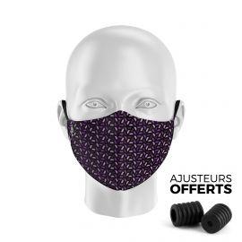 Masque tissu SILA RUBIS VIOLET - Forme Ergo - Filtration 1 - UNS1