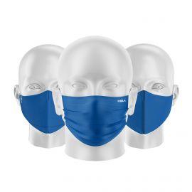 LOT Masques tissu UNS1 Bleu - Forme au choix - Filtration catégorie 1