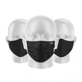 LOT Masques tissu UNS1 Noir - Forme au choix - Filtration catégorie 1