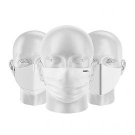 LOT Masques tissu UNS1 Blanc - Forme au choix - Filtration catégorie 1