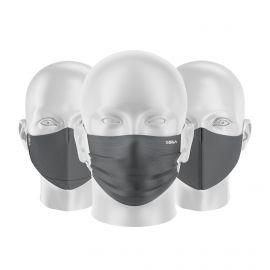 LOT Masques tissu UNS1 Gris - Forme au choix - Filtration catégorie 1