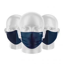 LOT Masques tissu UNS1 Blue Marine - Forme au choix - Filtration catégorie 1