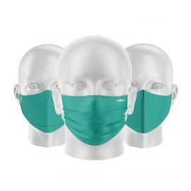 LOT Masques tissu UNS1 Emeraude - Forme au choix - Filtration catégorie 1