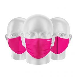 LOT Masques tissu UNS1 Rose - Forme au choix - Filtration catégorie 1