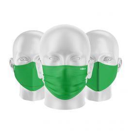 LOT Masques tissu UNS1 Vert - Forme au choix - Filtration catégorie 1