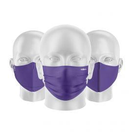 LOT Masques tissu UNS1 Violet - Forme au choix - Filtration catégorie 1