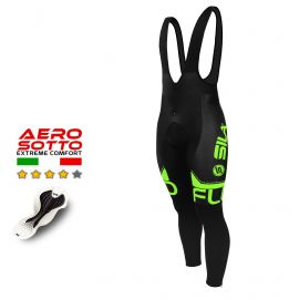 CYCLING BIB TIGHTS SILA FLUO STYLE 3- GREEN