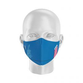 Masque tissu SILA NATION STYLE AMERIQUE - Forme Ergo - Filtration 1 - UNS1