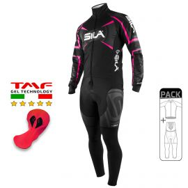PACK HIVER Cyclisme - SILA TEAM PRO - Rose Fluo