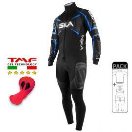 PACK HIVER Cyclisme - SILA TEAM PRO - Bleu
