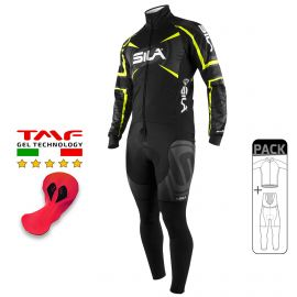 PACK HIVER Cyclisme - SILA TEAM PRO - Jaune Fluo