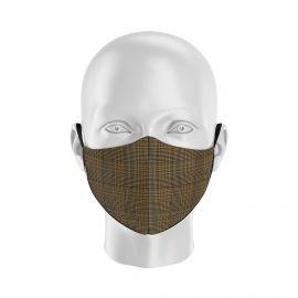 Masque tissu SILA PRINCE DE GALLE - MARRON - Forme Ergo - Filtration 1 - UNS1