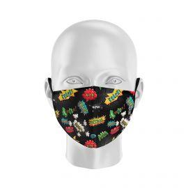 Masque tissu SILA BANG NOIR Enfants - Forme Coque - Filtration 1 - UNS1