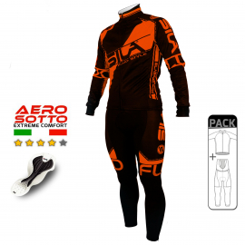PACK HIVER Cyclisme - SILA FLUO STYLE 3 ORANGE