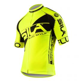 MAILLOT SILA FLUO STYLE 3 Plus – JAUNE – Manches courtes